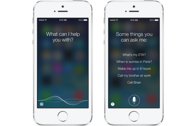 Apple iOS 7 Siri