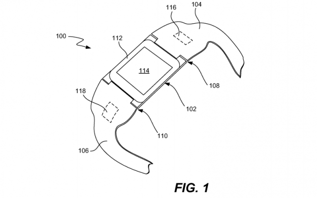 Apple iTime smartwatch patent drawing fig. 1