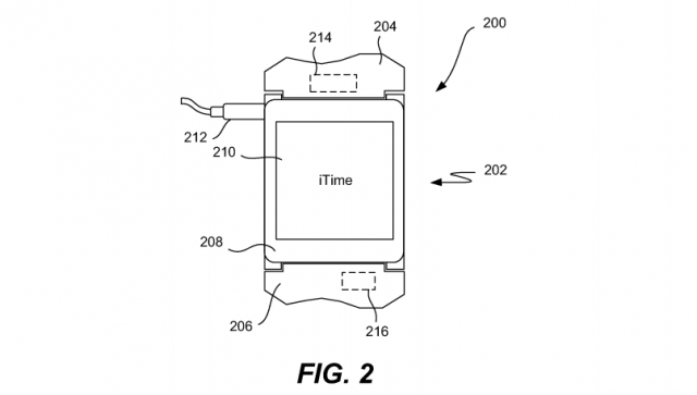 Apple iTime smartwatch patent drawing fig. 2