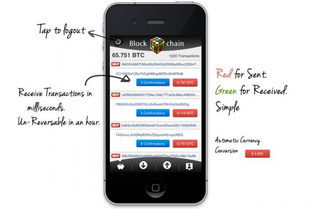 Blockchain iOS app