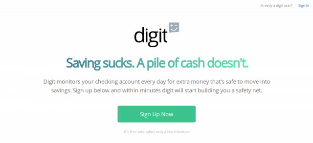 Digit SMS savings bot
