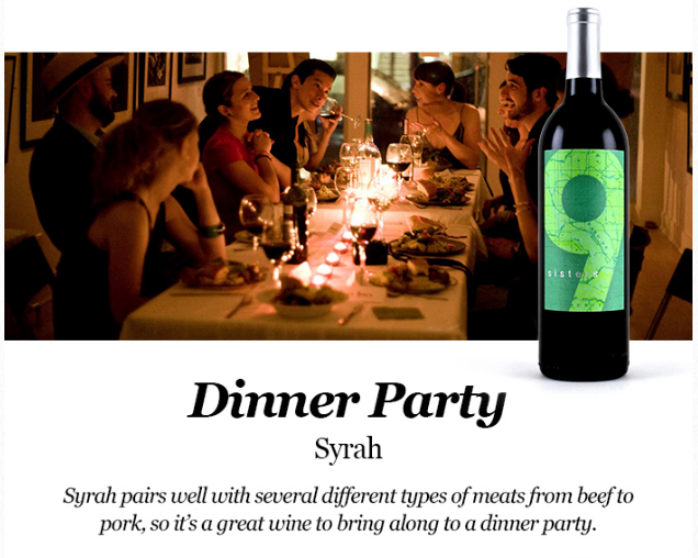 Dinner Party Ideas: Pairing Syrah for a dinner party