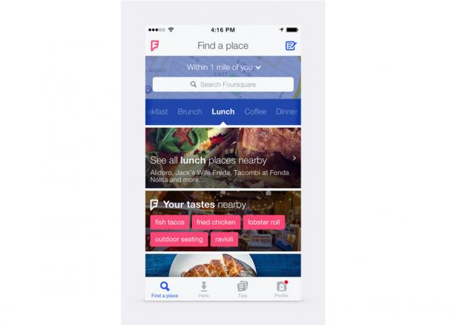Foursquare app redesign