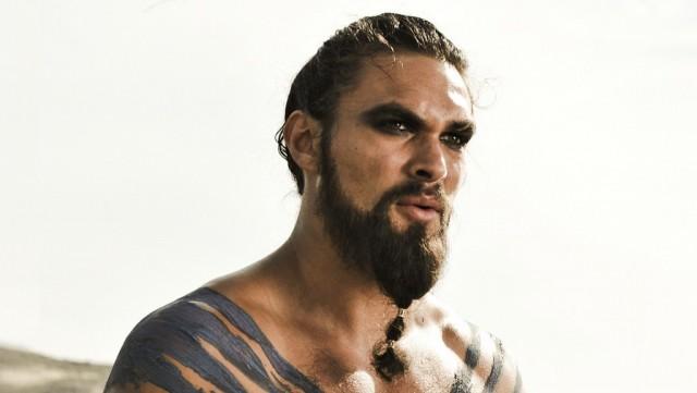 Jason Momoa as Khal Drogo on Game of Thrones.