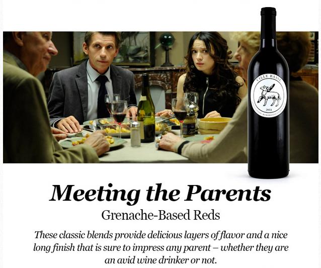 Grenache: Ganache Wine with formal events