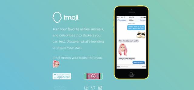Imoji site and iOS app