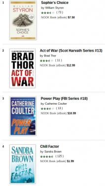 Nook bestsellers 1