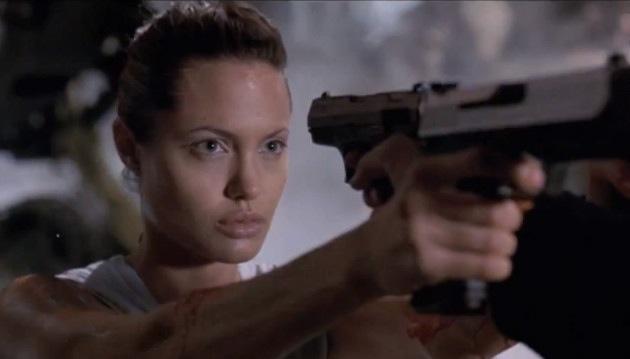 Angelina Jolie in movie 'Lara Croft: Tomb Raider'