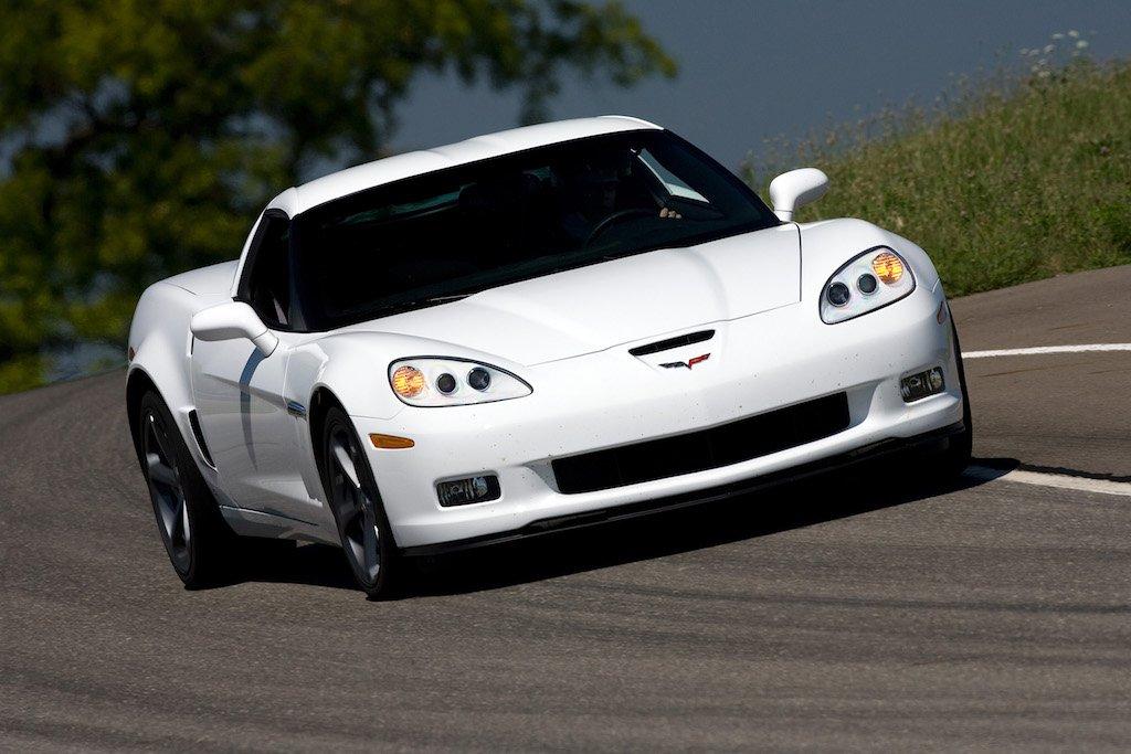 A white 2010 Chevrolet Corvette Grand Sport