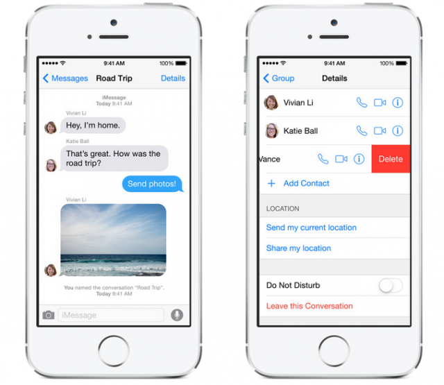 iOS 8 Messaging