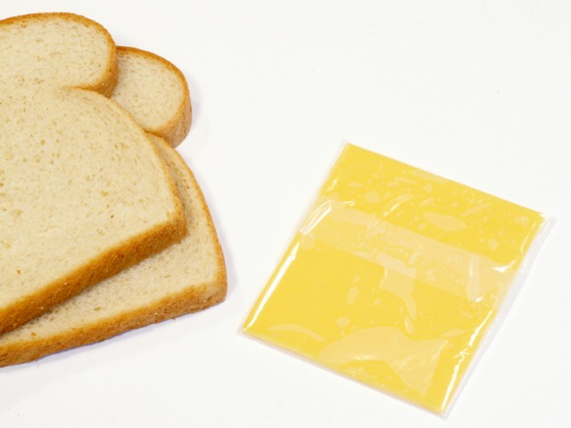 Ingredients for grilled cheese