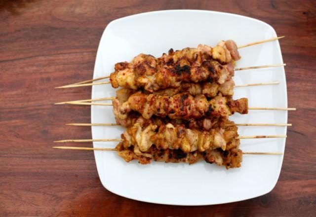Chicken Shish Kebab Satay