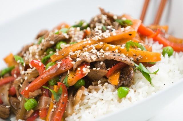 Stir-fried buckwheat