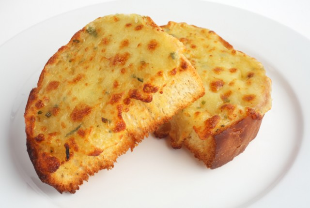 cheese bread on a plate