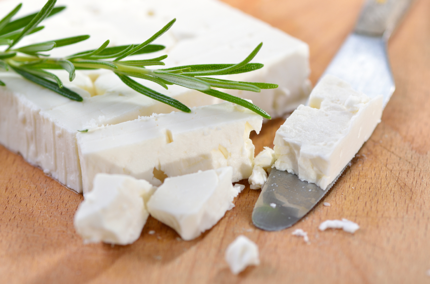 a block of feta