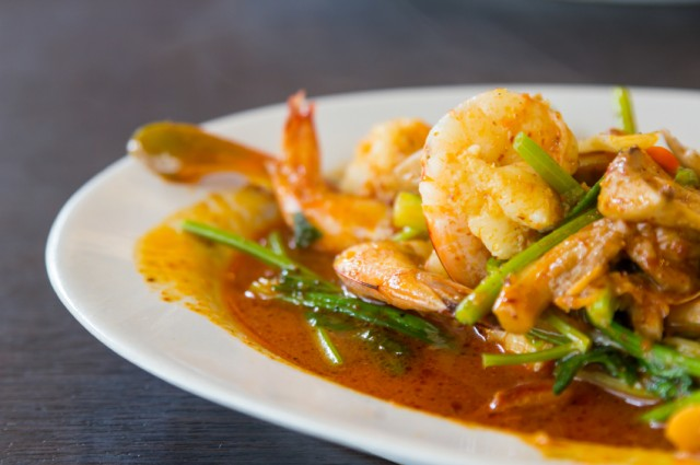 Spicy sichuan-style shrimp