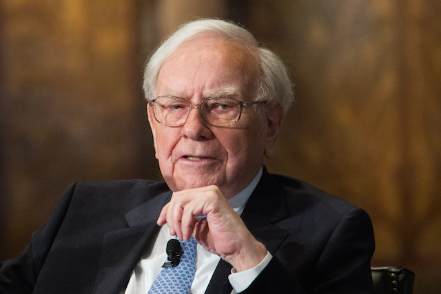 Lifelong reader and guy who knows how to make money Warren Buffett, at a hearing in Washington D.C.