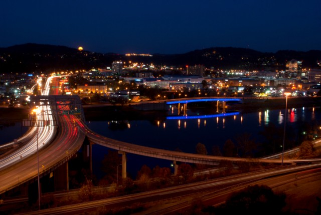 West Virginia at night