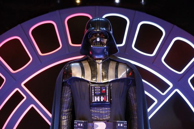Darth Vader costume on display