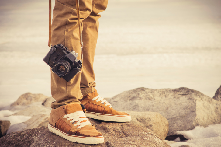 traveler with his camera