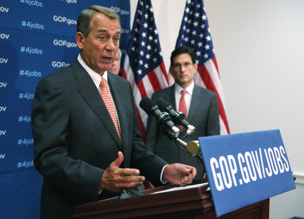 House GOP Leaders Address The Press After Party Conference Meeting