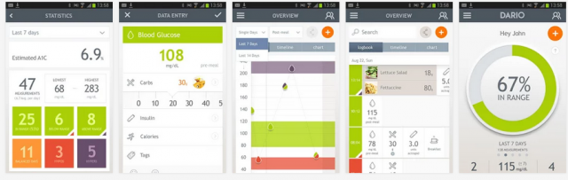Dario diabetes management Android app