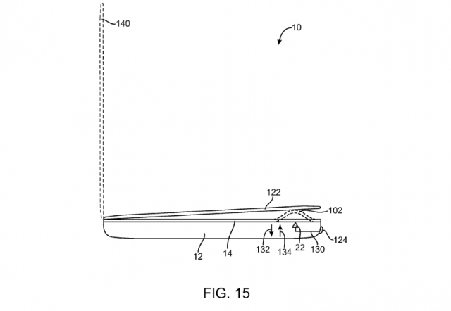 Fig. 15 Apple patent Electronic devices with flexible displays
