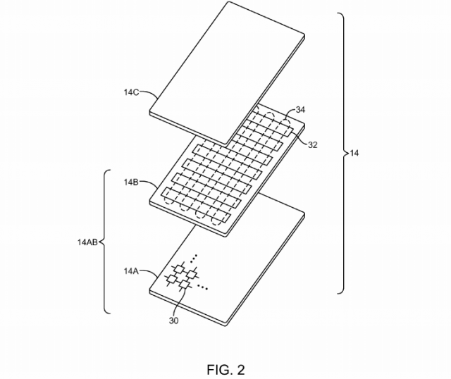 Fig. 2 Apple patent Electronic devices with flexible displays
