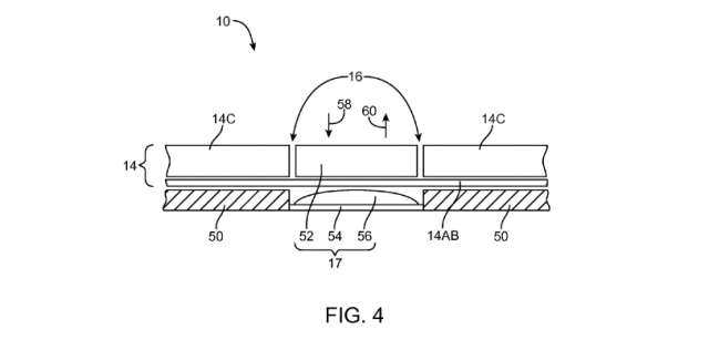 Fig. 4 Apple patent Electronic devices with flexible displays