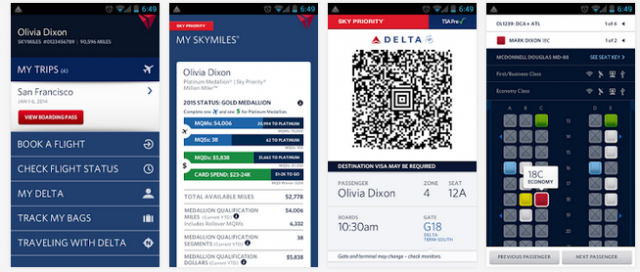 Fly Delta app (Android)