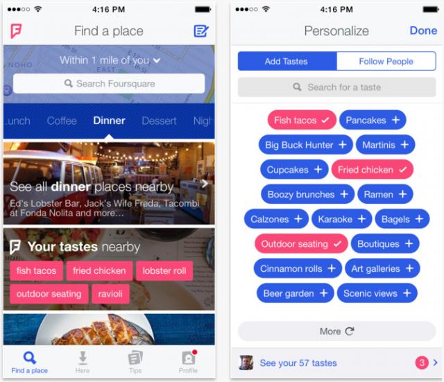 Foursquare iOS app