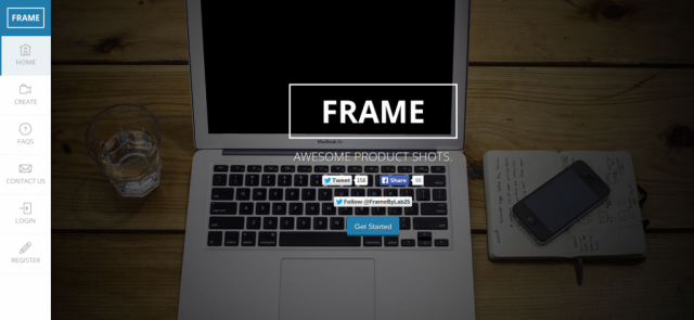 Frame product shots