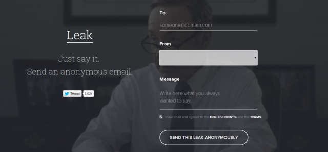 Leak anonymous email