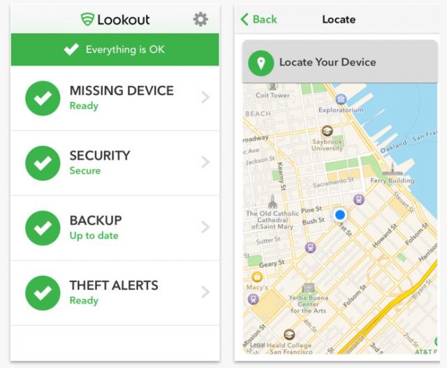Lookout app