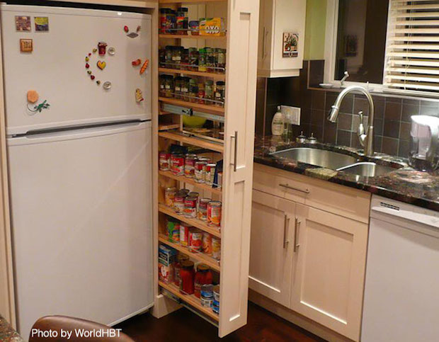 Maximize Storage with A Pullout Pantry