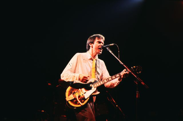 Neil Young in concert.