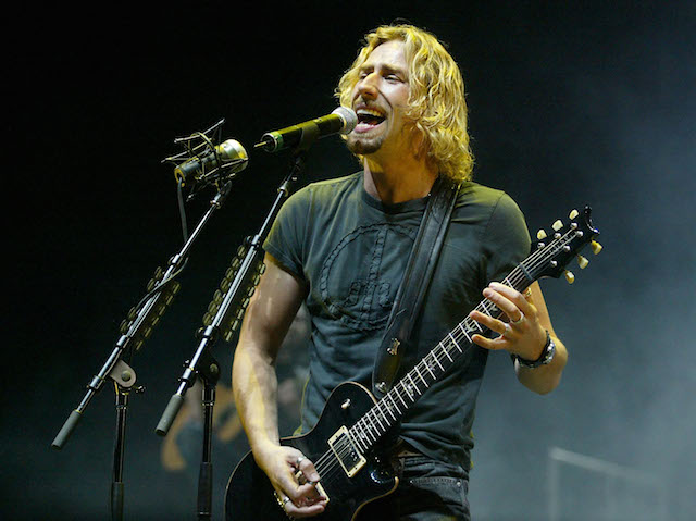 Nickelback in concert.