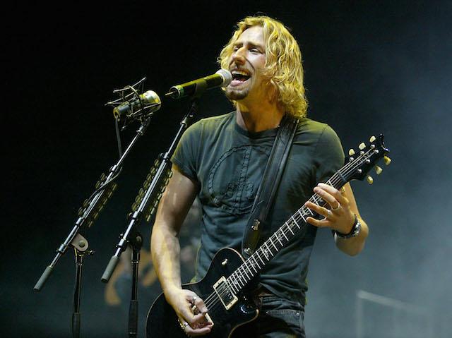 Nickelback in concert.