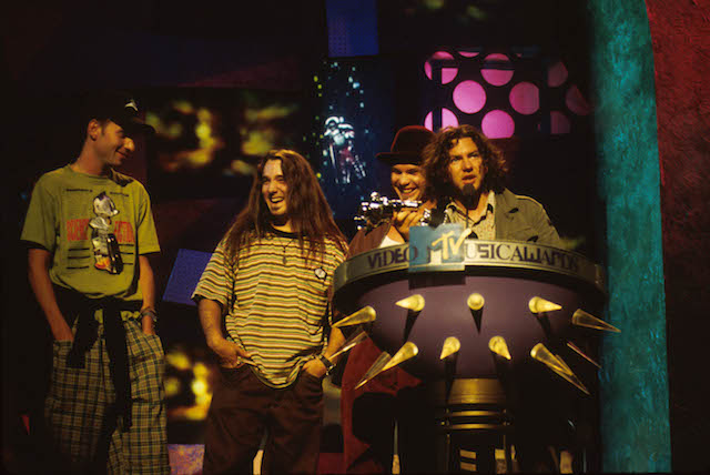 Pearl Jam at the MTV Music Awards.