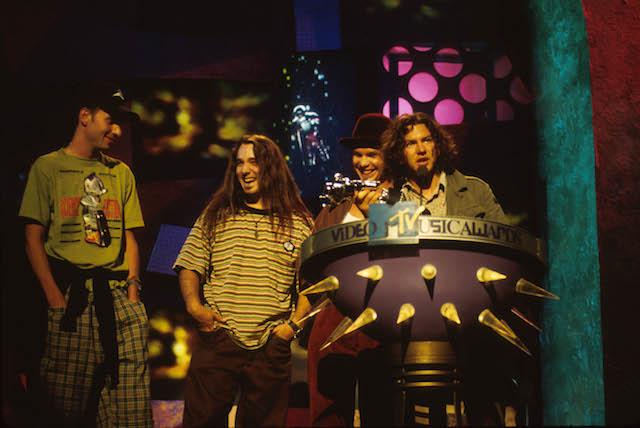 Pearl Jam at the MTV Music Awards.