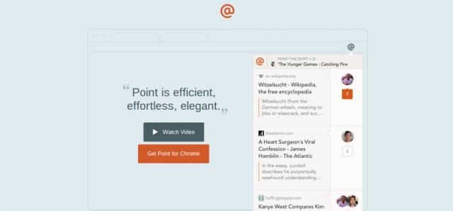 Point Chrome extension