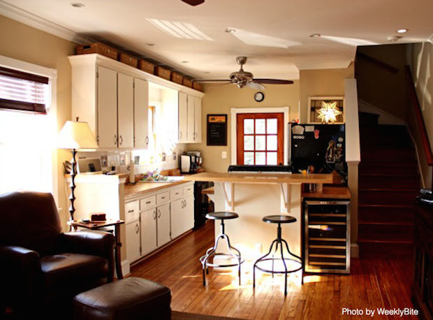Put Baskets Above the Cabinets