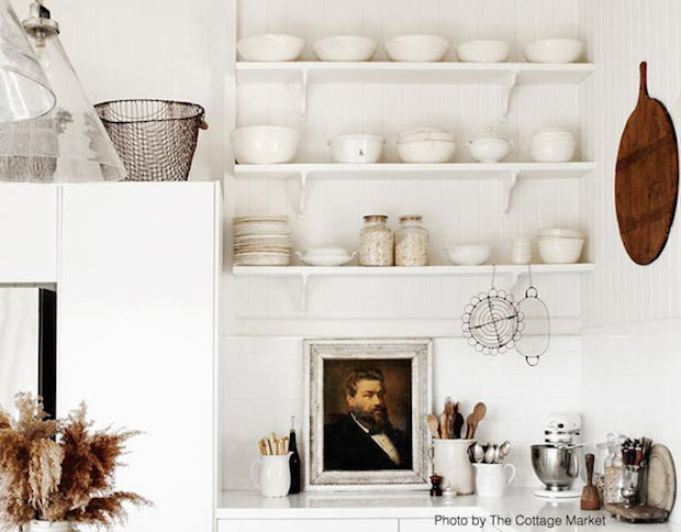 Reduce Visual Weight with Open Shelving