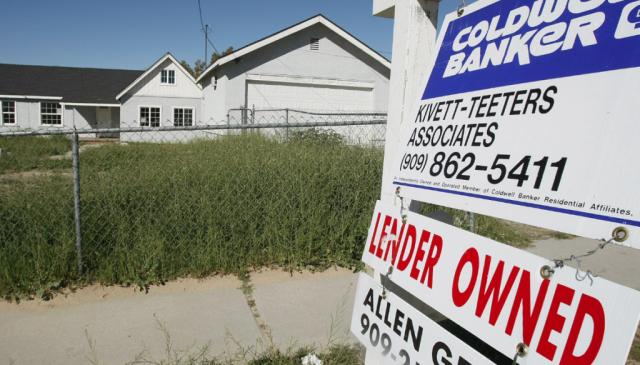 A foreclosed house in San Bernardino