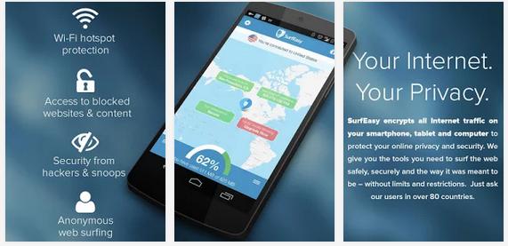 SurfEasy VPN app