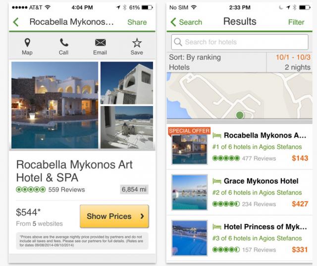 TripAdvisor app (iOS)