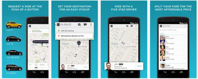 Uber app (Android)