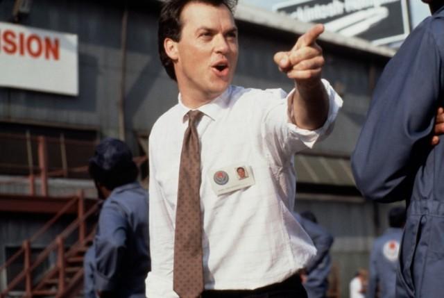 Michael Keaton points his finger in Gung Ho