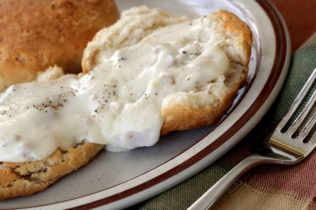 biscuits with gravy