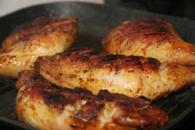 freshly grilled chicken
